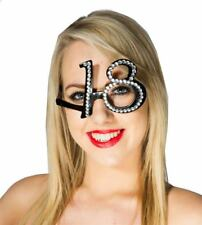 Aged 18 Diamante Glasses, Birthday Party Gift/Present