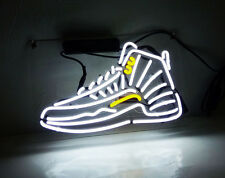 White Sneakers Vintage Real Glass NEON Sign Light Home Room Decor Display