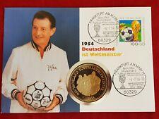 Numisbrief Fritz Walter 1954 Deutschland Fußball Weltmeister Medaille PP Worbes