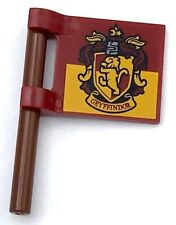Lego New Dark Red Flag 2 x 2 Square Gryffindor House Crest Pattern Flagpole