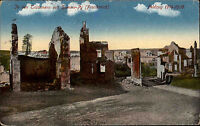 1. WK Feldpostkarte Feldzug 1916 Häuser Trümmer Ste. Marie-a-Py nach Rendsburg