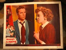 Woman In Hiding 1950 Universal crime lobby card Ida Lupino Howard Duff
