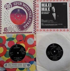 """Job Lot/Bundle Of 4 Vinyl 7"""" Singles.Max Bygraves/Des O'Connor.Deck Of Cards+"""