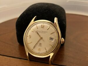 RARE GIRARD PERREGAUX GYROMATIC 39 JEWELS 14K GOLD CAP & STAINLESS WATCH Works!