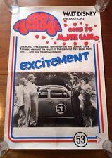 Vintage Walt Disney Productions Herbie Goes To Monte Carlo Rare Original Poster