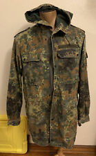 Vtg H Winnen GMBH & Co German Military Jacket Camouflage Hooded XL CAMO HUNTING