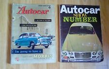 The Autocar 19 October 1956 (London Show Report) & AUTOCAR 1968 SHOW NUMBER