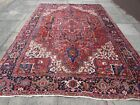 Antique Traditional Hand Made Vintage Oriental Wool Red Blue Carpet 350x245cm