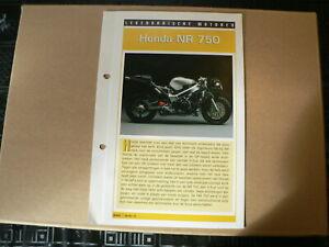 LM15- HONDA NR 750 INFO CARD SHEET MOTORCYCLE,MOTORRAD,MOTORFIETS