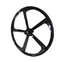 700c 5-Spoke Fixie Fixed Gear Single Speed Bike Front Mag Wheel Rim ( Black )