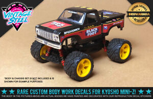 """Kyosho Mini-Z Tamiya """"BLACK FOOT"""" Reproduction 1/24 R/C Body Decals for Buggy"""