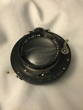 Carl Zeiss Jena Tessar 21cm/210mm in Compound Shutter With Mounting Flange 5x7