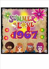 Summer of Love 1967 Signe Plaque Murale Style Vintage Métal Signe Plaque Murale