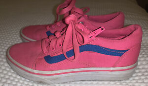 Girls Size 1 (33 Euro ) Vans Pink Pumps - With Zips