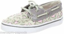 NEW! GIRLS SPERRY TOP-SIDER BAHAMA STONE / PINK LEOPARD US SIZE 8