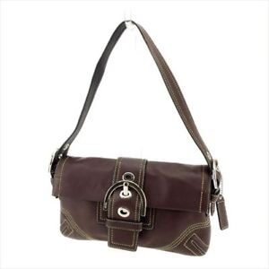 Coach Shoulder bag Brown Silver Woman Authentic Used G1241