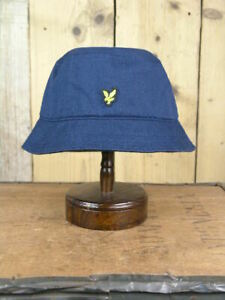 Lyle and Scott Cotton Twill Navy Blue Bucket Hat HE800A