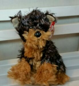Ty Beanie Baby - TYGER  the Yorkshire Yorkie Dog - NEW w/ tag protector