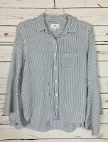 BP. Nordstrom Women's XS Extra Small Blue Striped Button Long Sleeve Shirt Top