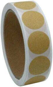 Round KRAFT Dot Stickers Round Sticky Dots Adhesive Circles Labels