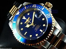 Invicta Mens Original Coin Edge PRO DIVER NH35 Automatic Gd 2Tone SS Blue Watch