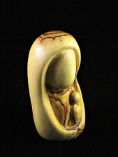 Handmade Olive Wood Madonna Mother & Child 9.5cm Figurine Bethlehem Palestine