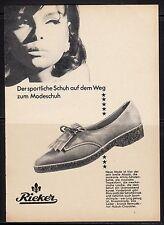 3w202/ancienne publicitaires de 1965-RIEKER-La Sportive Chaussure...