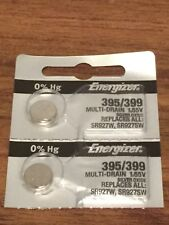 2 Energizer 395/399 Battery SAME DAY SHIPPING WATCH Batteries SR927SW 1.55v