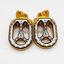 Gold CNC FootPegs Peg Pedal Footrest For Suzuki RM-Z 250 RMX 450Z 2010-2015