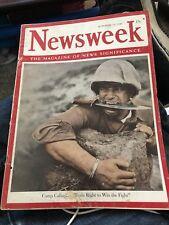 OCT 12 1942 NEWSWEEK vintage news magazine - CAMP CALLANITE