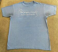 New listing Vtg You'Ve Got A Friend In Pennsylvania T-Shirt Mens Medium M Soft Thin 80s Men