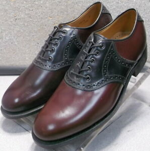 2493530 DF50 Men's Shoes Size 9 M Burgundy Leather Lace Up Johnston & Murphy