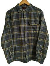 Wolverine Blue Yellow Plaid Flannel Shirt Jacket Thermal Lined Mens Medium EUC