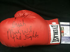 MICKY WARD The Fighter Signed Autograph Everlast Leather LaceUp Boxing Glove JSA