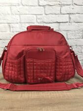 Lug Travel TUK TUK Quilted Baby Diaper Gym Carryall Ovenight Bag Red Nice! $125