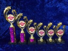 1st to 6th Pink Dance Awards Trophies Ballet Freestyle Ballroom FREE engraving