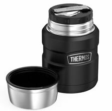 Thermos Stainless King Food Flask Matt Black 470 ml Durable Stainless Steel New