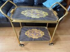 Vintage 2 Tier Hostess Tea Trolley with removable tray /  one bolt missing