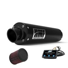 HMF Performance Slip On Exhaust Pipe Black Turn End Cap EFI Optimizer K&N DS 450