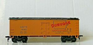 Life-Like Wood Ice Reefer ~ DUBUQUE PACKING CO. ~ Rd# URTX 4750 - IOB - HO - EXC