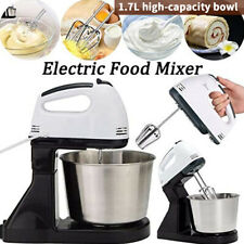 Electric Hand Mixer Handheld Stand Mixers For Baking With Bowl 2 Beaters Whisk