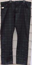 NWT-$245 Polo Ralph Lauren Sullivan Slim-Fit Blackwatch Plaid Jeans Size 30 x 30