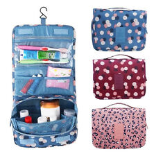 Ladies Wash Bag Hanging Toiletry Cosmetic Travel Make Up Folding Organizer x 1