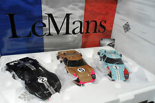 SET 3 FORD GT40 MK II LE MANS 1966 WINNER SECOND THRID 1/18 EXOTO 18SC2 MOLTO