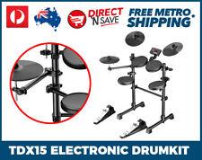 5 Piece Electronic Drumkit Digital Metronome AUX Drum Velocity Sensitive TDX15
