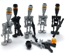 Lego 5 New Assassin Droid Minifigures Silver and Black Figures
