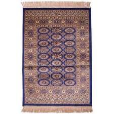 New Italtex Rugs Chiraz Art Silk Floor Carpet Rug 68cm x 105cm Blue 8438-9