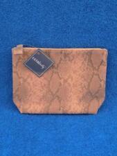 Ulta Beauty Salmon Pink & Gray Faux Snakeskin Design Make Up Cosmetic Case Bag