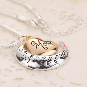 Necklace & Pendant Mothers Day Christmas Gifts I Love You To The Moon & Back Mom