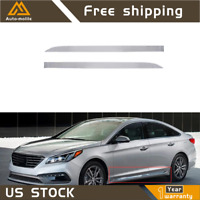 4Pcs Stainless Steel Body Side Molding Trim Fit For Hyundai Sonata 2015-2019 BBL
